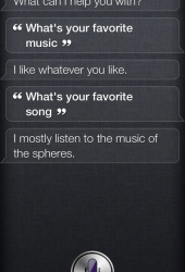 Siri loves music