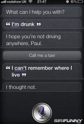 Siri helping me to get home...