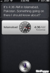 Siri wants to know more about Islamabad