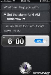 Siri likes to sleep in
