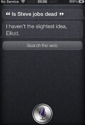 Asking Siri about Steve Jobs